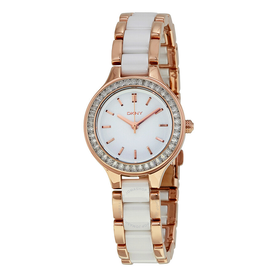 Dkny chambers white dial ladies watch ny2496 dkny watches jomashop for Dkny watches