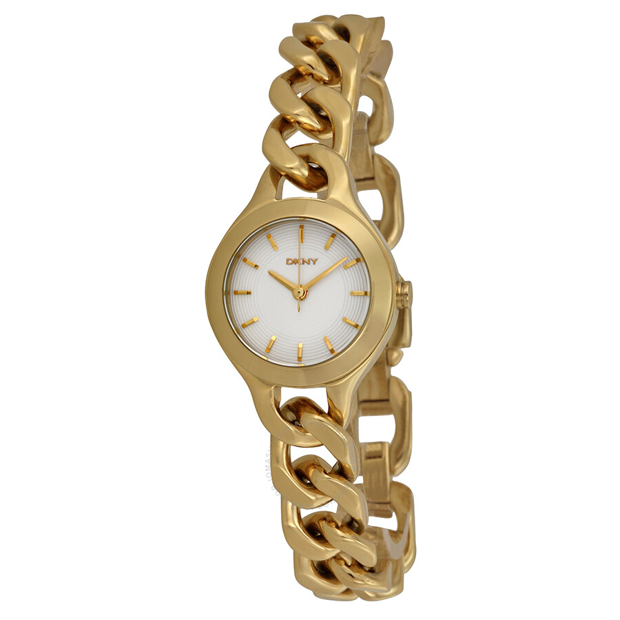 fd3f3f590f8 DKNY Chambers White Pearlized Dial Gold-tone Ladies Watch NY2213 ...