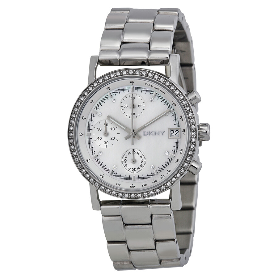 Dkny chronograph mother of pearl ladies watch ny8339 dkny watches jomashop for Dkny watches