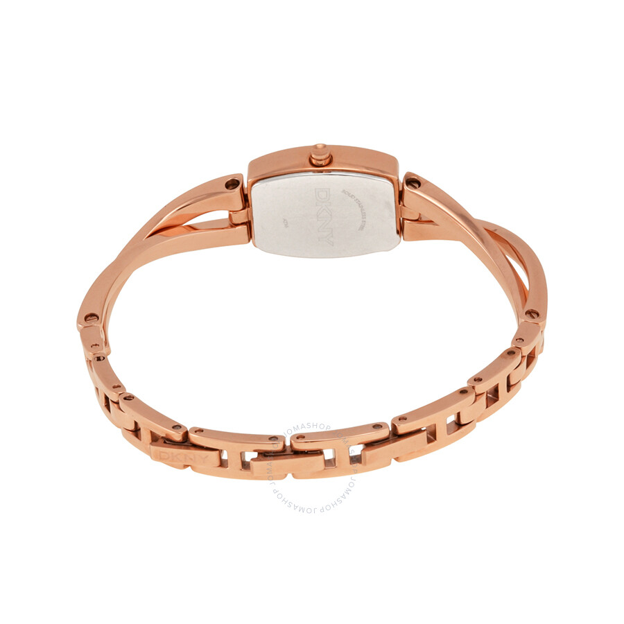 DKNY Cross Walk Bangle Rose Dial Rose Goldtone Ladies Watch NY2314