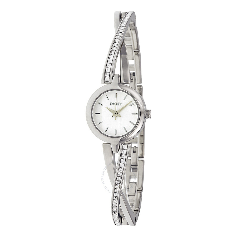 Dkny crosswalk white dial stainless steel ladies watch ny2173 dkny watches jomashop for Dkny watches