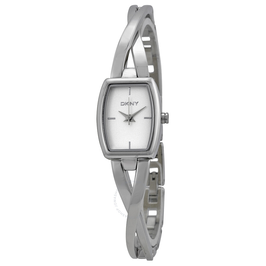 Dkny crosswalk white dial stainless steel ladies watch ny2234 dkny watches jomashop for Dkny watches