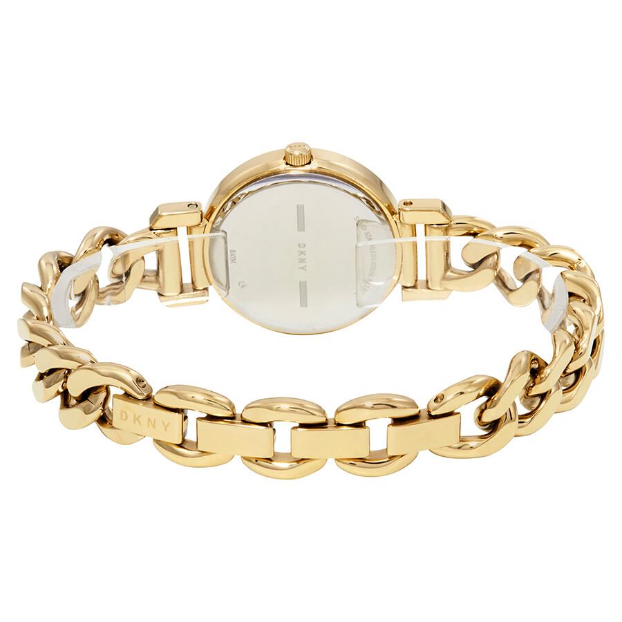 DKNY Ellington Black Dial Ladies Gold Tone Watch NY2665 - DKNY ... 8403ed89c1817