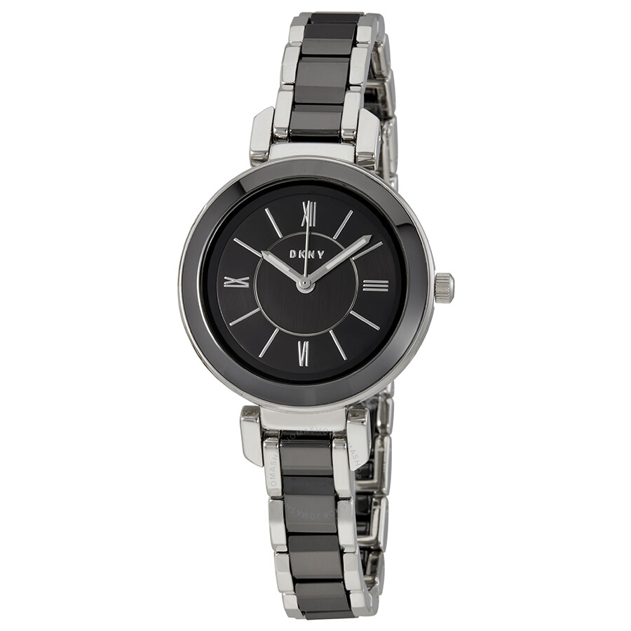 Dkny ellington black dial ladies watch ny2590 dkny watches jomashop for Dkny watches
