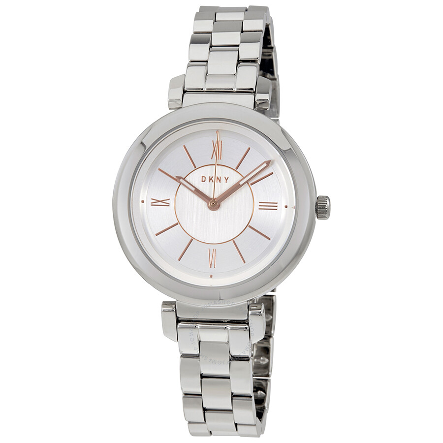 DKNY Ellington Silver Dial Ladies Watch NY2582 - DKNY - Watches ... 92c5c2c21d8a