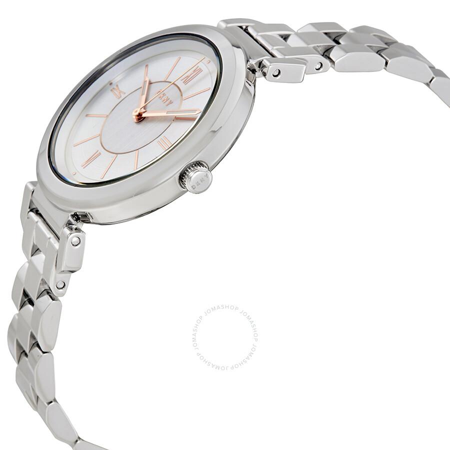 DKNY Ellington Silver Dial Ladies Watch NY2582 - DKNY - Watches ... a7640bd426f29