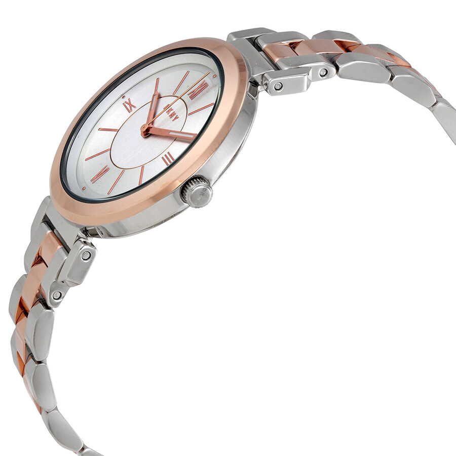 DKNY Ellington Silver Dial Ladies Watch NY2585 - DKNY - Watches ... 73d2fafbf9c8f
