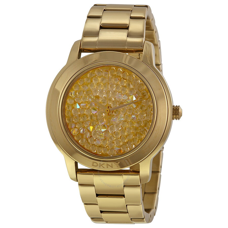DKNY Gold-tone Dial Gold-tone Stainless Steel Bracelet Ladies Watch NY8437  ...