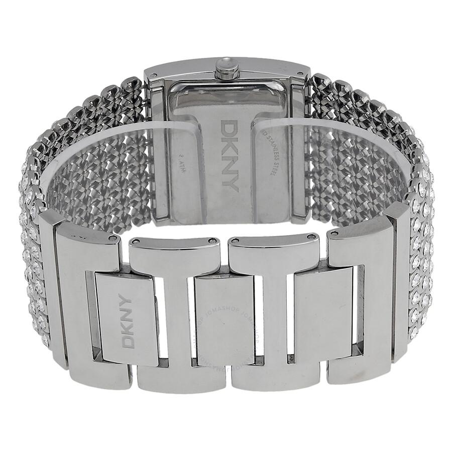 Dkny Las Mesh Crystal Bracelet Watch Ny4661