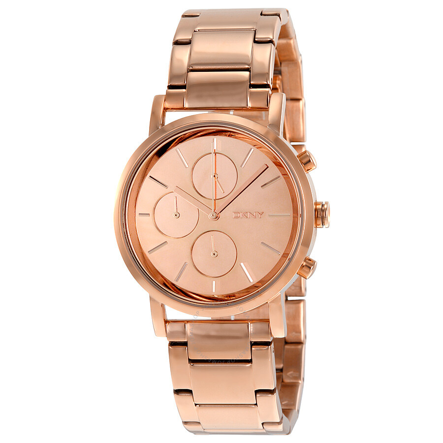 Dkny lexington chronographrose dial rose gold plated ladies watch ny8862 dkny watches jomashop for Dkny watches