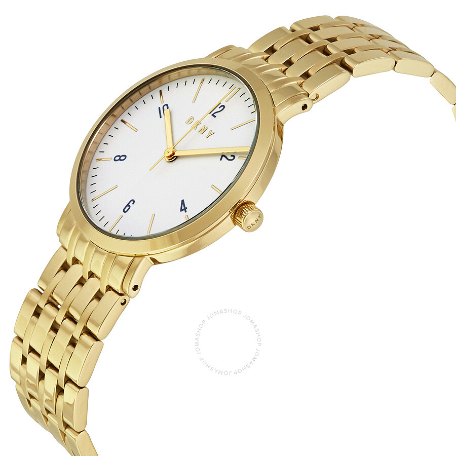 Dkny minetta white dial ladies watch ny2503 dkny watches jomashop for Dkny watches