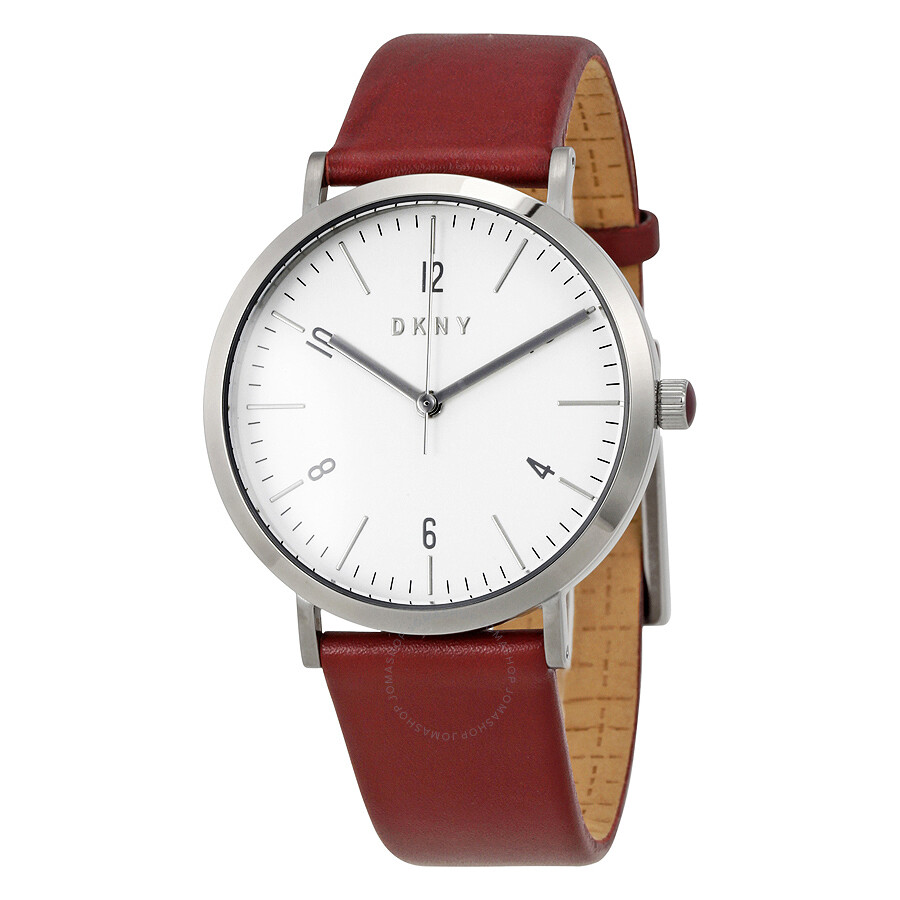 Dkny minetta white dial ladies leather watch ny2508 dkny watches jomashop for Dkny watches