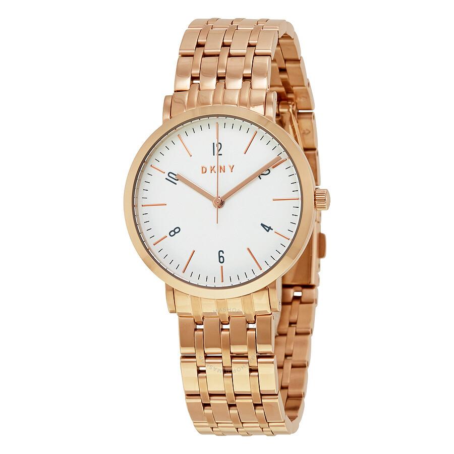 a53ff235ad9b4 DKNY Minetta White Dial Ladies Rose Gold Tone Watch NY2504 - DKNY ...