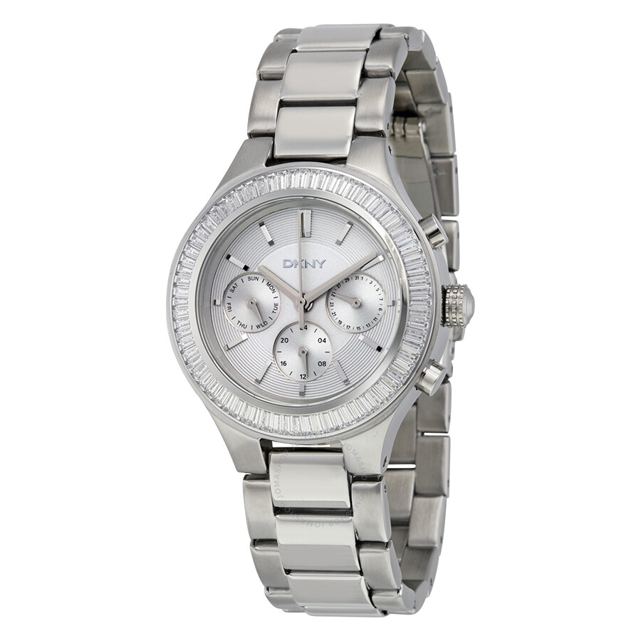 Dkny multi function silver dial stainless steel ladies watch ny2394 dkny watches jomashop for Dkny watches