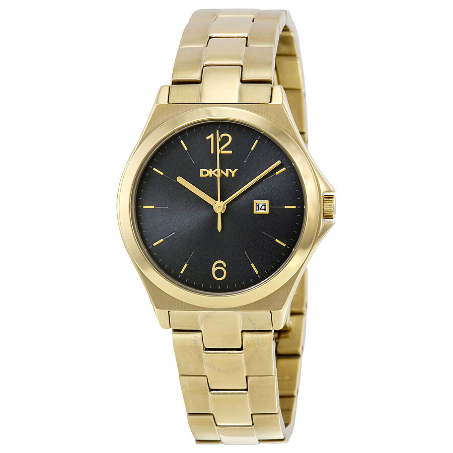 dkny watches jomashop dkny parsons black dial gold tone unisex watch