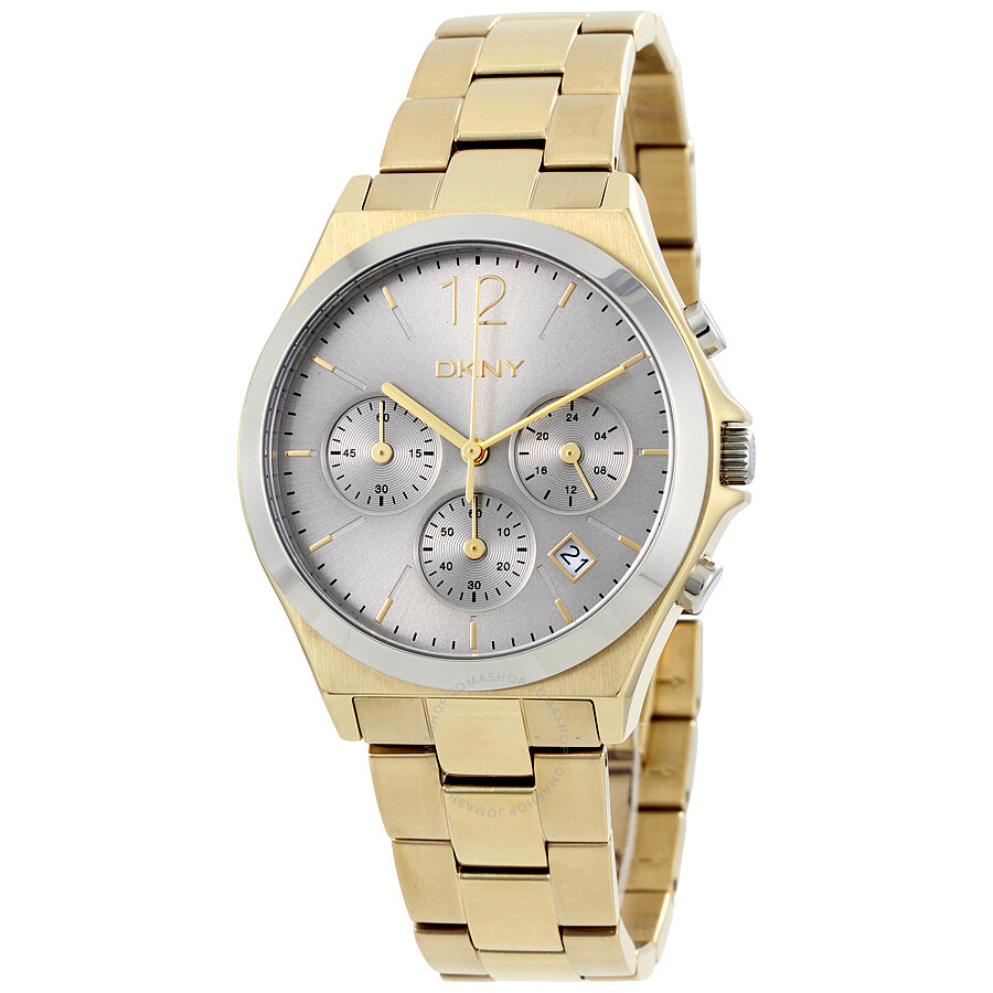 Dkny parsons grey dial ladies chronograph watch ny2452 dkny watches jomashop for Dkny watches