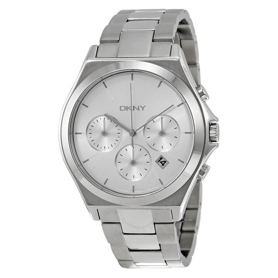 Dkny Parsons Chronograph Silver Dial Stainless Steel Mens Watch Casio Edifice 543d Chrono Men Ny2378