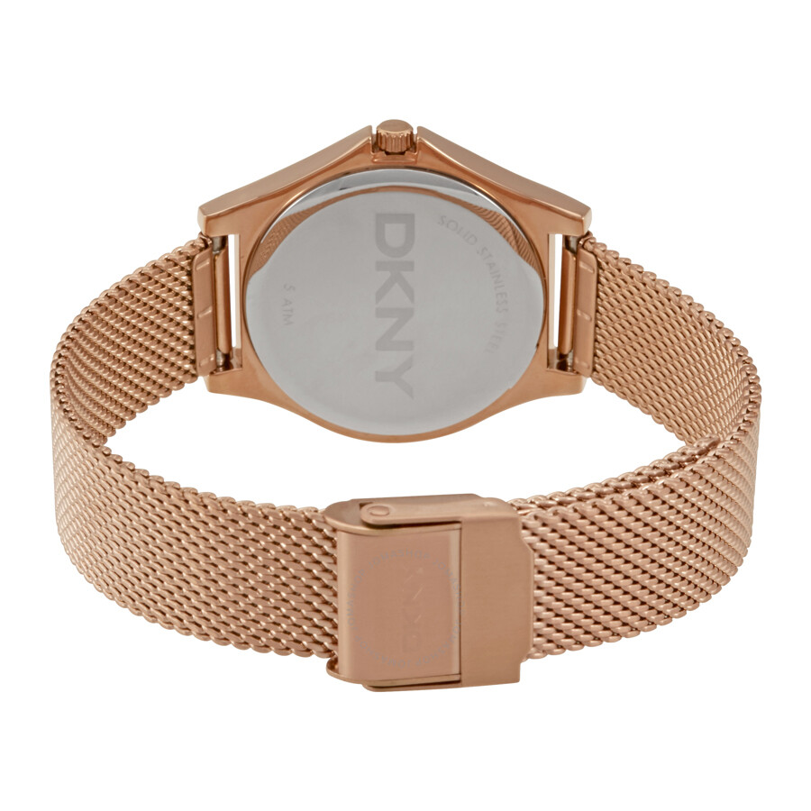 ... DKNY Parsons Rose Dial Gold-tone Ladies Watch NY2489