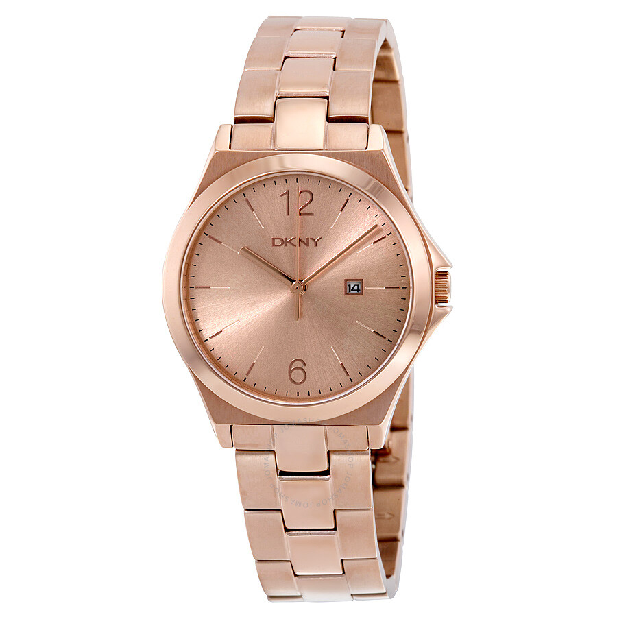 dkny parsons rose dial rose gold tone ladies watch ny2367 dkny watches jomashop