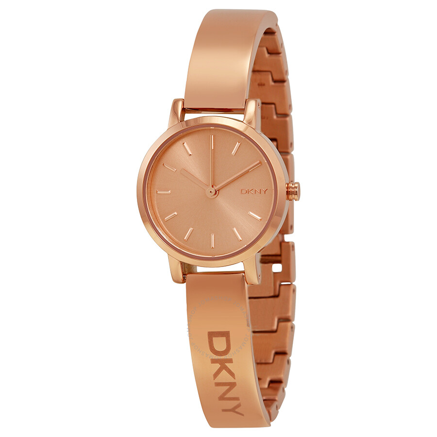 Dkny rose dial rose gold pvd ladies watch ny2308 dkny watches jomashop for Dkny watches