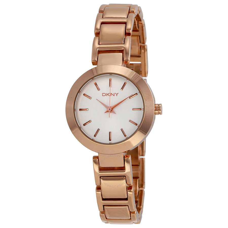 dkny silver gold tone stainless steel