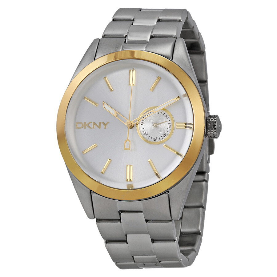 Dkny silver dial stainless steel men 39 s watch ny1531 dkny watches jomashop for Dkny watches