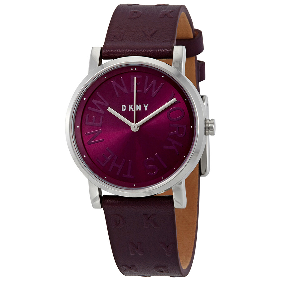 Dkny soho purple dial ladies watch ny2762 dkny watches jomashop for Dkny watches