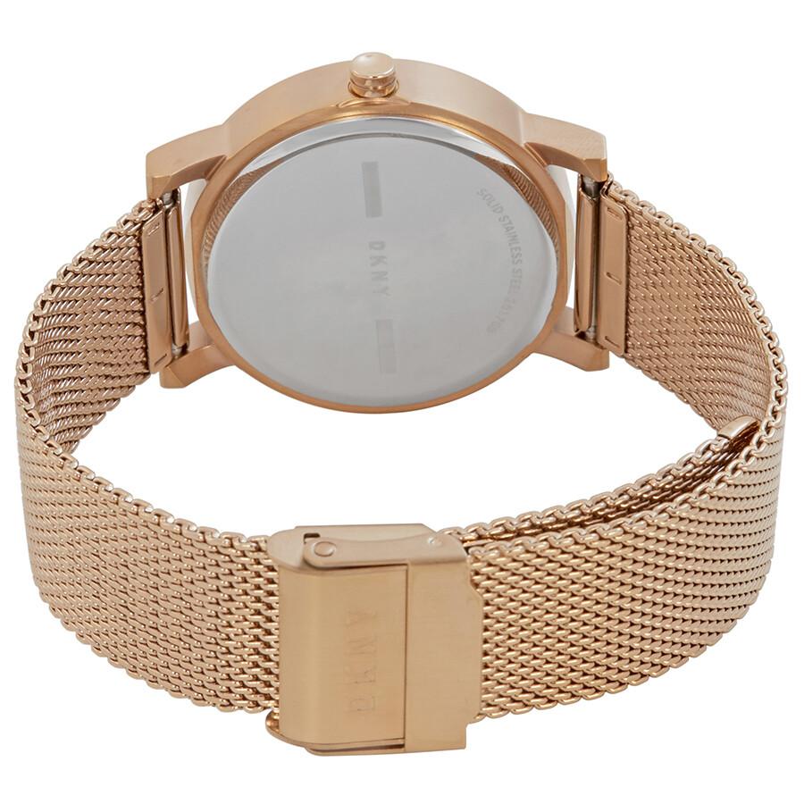 7352f13949753 DKNY Soho Rose Gold Dial Ladies Mesh Watch NY2622 - DKNY - Watches ...