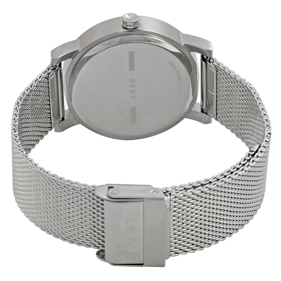 f024e379989 DKNY Soho Silver Dial Steel Mesh Ladies Watch NY2620 - DKNY ...