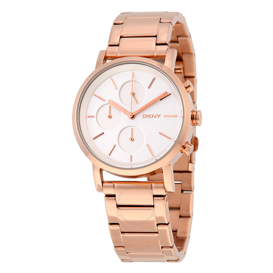 Dkny soho silver dial rose gold tone ladies watch ny2275 dkny watches jomashop for Dkny watches
