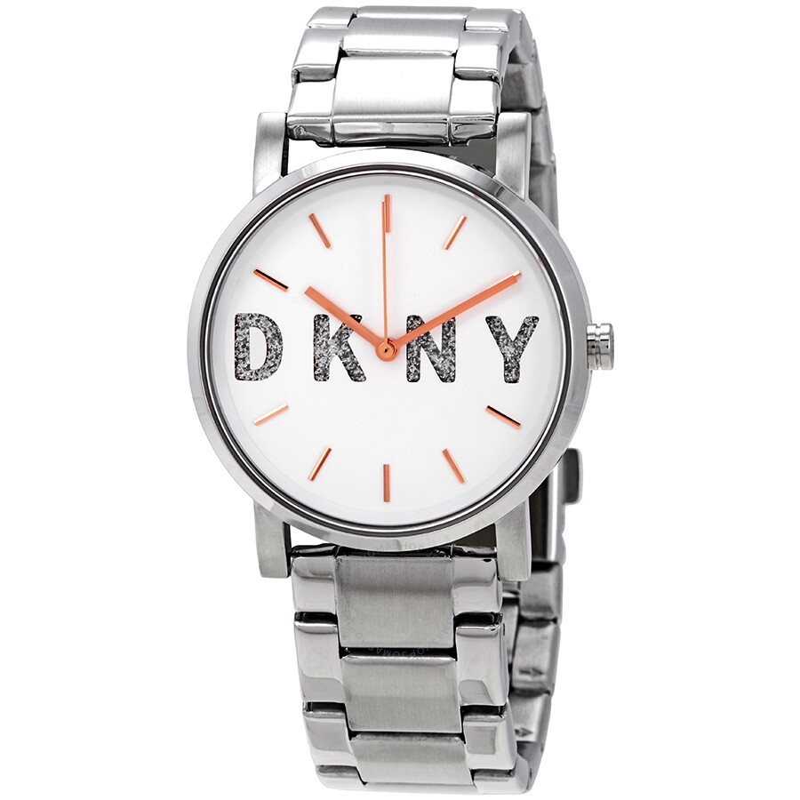 DKNY SoHo White Dial Stainless Steel Ladies Watch NY2681