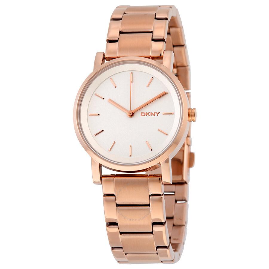 42b542b5cb577 DKNY Soho White Dial Rose Gold-tone Ladies Watch NY2344 - DKNY ...