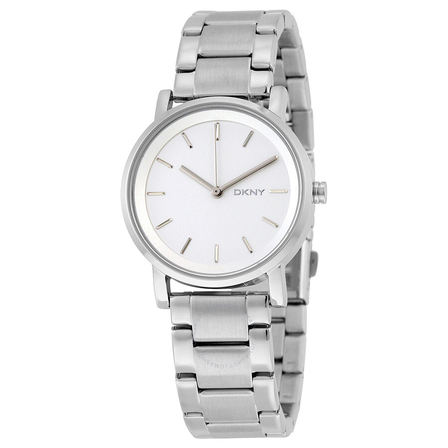 Dkny soho white dial stainless steel ladies watch ny2342 dkny watches jomashop for Dkny watches