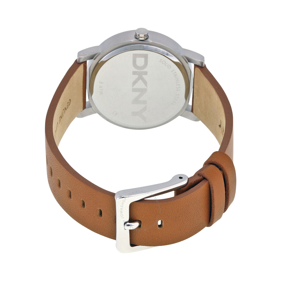 65ffb9639 ... DKNY Soho White Pearlized Dial Light Brown Leather Strap 34mm Ladies  Watch NY2339