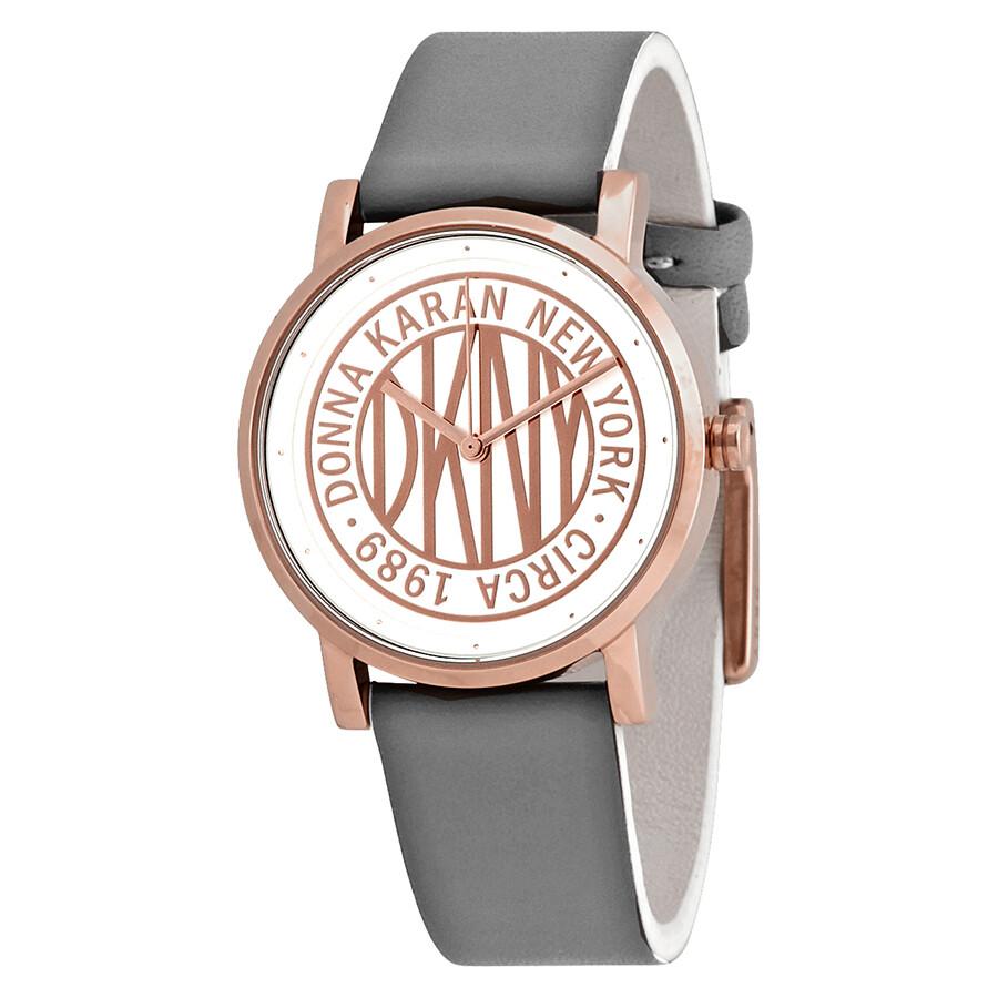 30c784f6b3e DKNY Soho White Rose Gold-tone Dial Ladies Watch NY2764 - DKNY ...