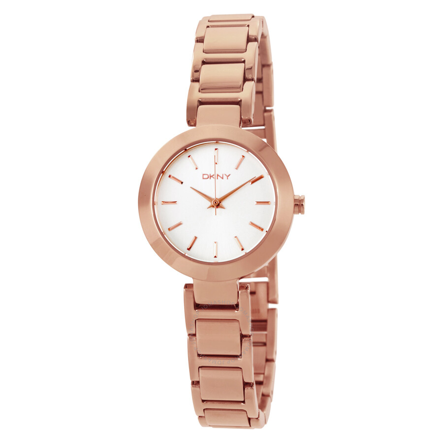 Dkny stanhope silver dial ladies watch ny2400 dkny watches jomashop for Dkny watches