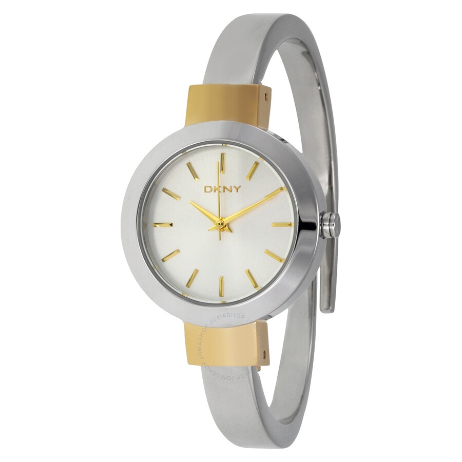 Dkny stanhope two tone stainless steel bangle ladies watch ny2352 dkny watches jomashop for Ladies bangle watch