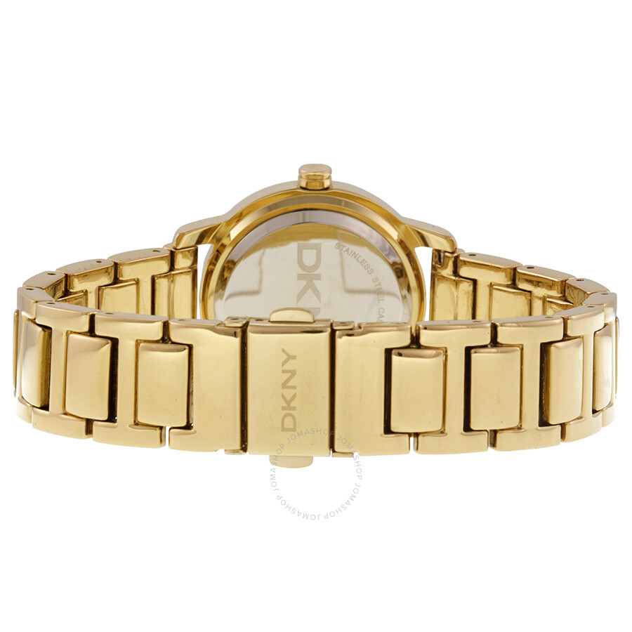 6af17f646d DKNY Tompkins Gold Dial Gold-plated Ladies Watch NY8876 - DKNY ...