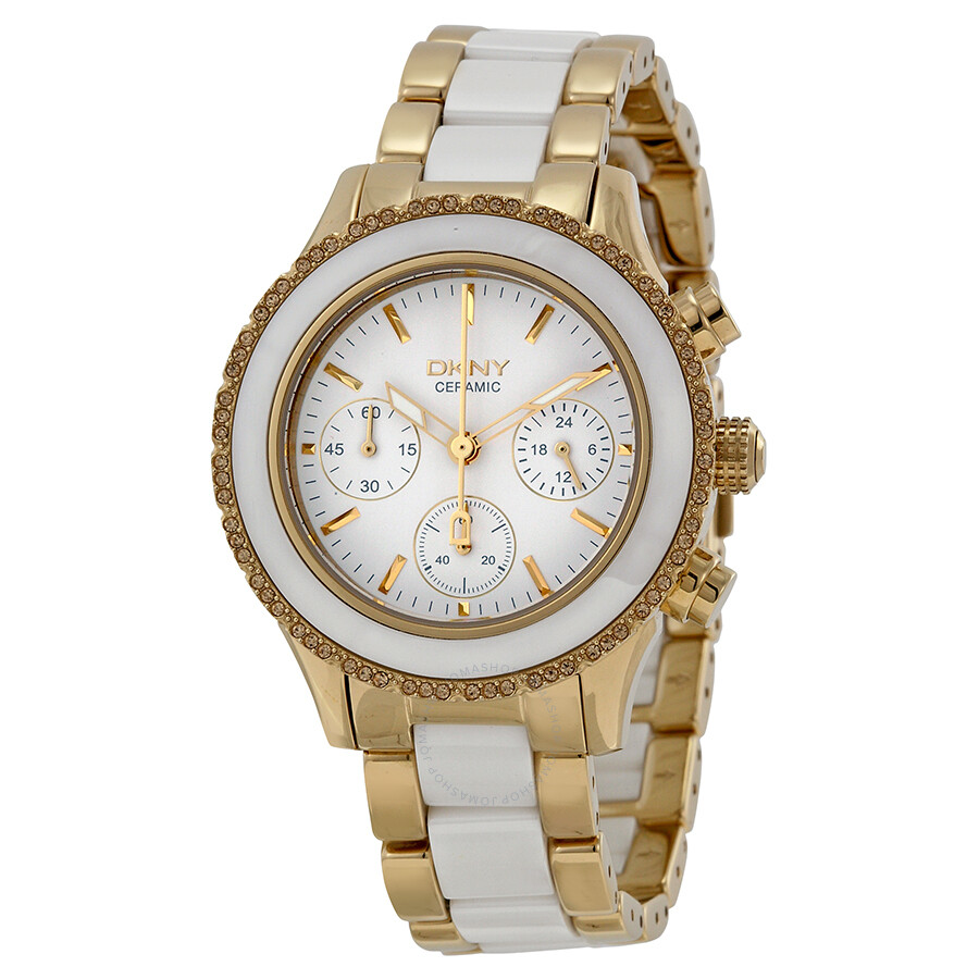 Dkny westside white dial stainless steel and ceramic ladies watch ny8830 dkny watches jomashop for Dkny watches