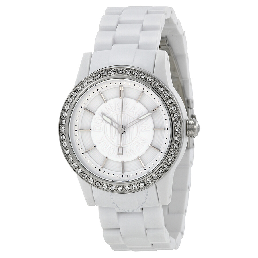 Dkny white dial plastic ladies watch ny8011 dkny watches jomashop for Dkny watches