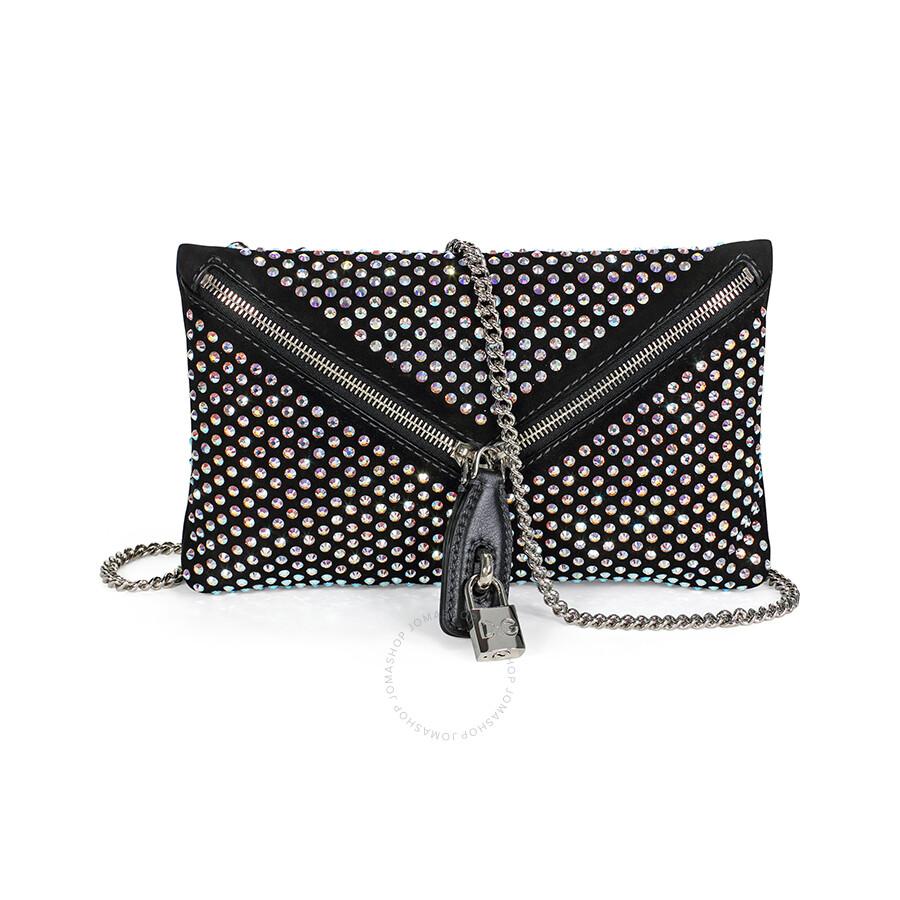 51be90062c Dolce and Gabbana Dolce Gabbana Black Suede Clutch Bag Item No.  DB0954-E1392-80999