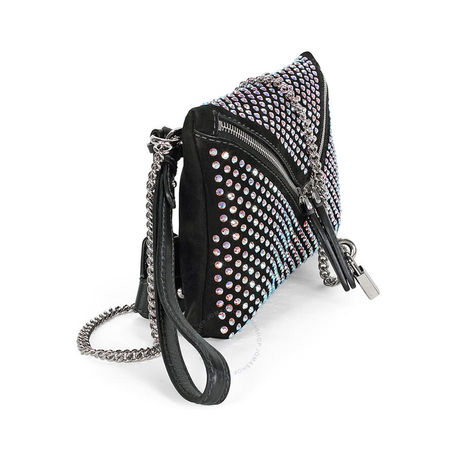 0acd279cc9 Dolce Gabbana Black Suede Clutch Bag - Handbags - Jomashop