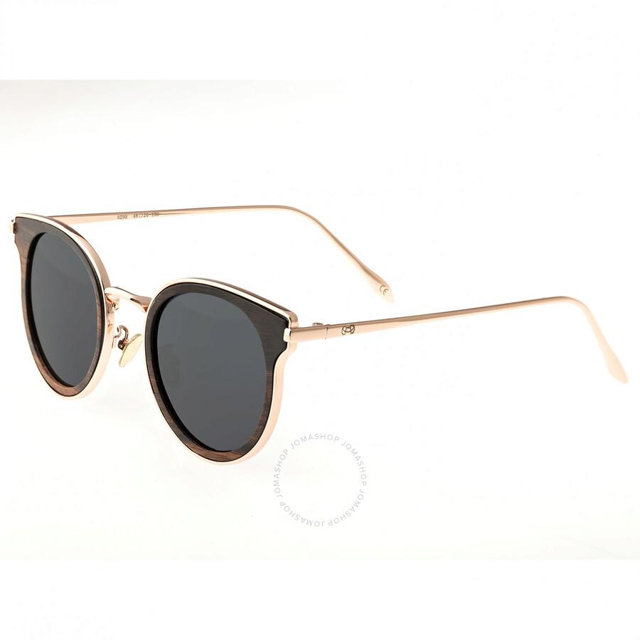 d0cb61939 Derawan Rose Gold Metal Wayfarer Sunglasses - Espresso Wood - Earth ...