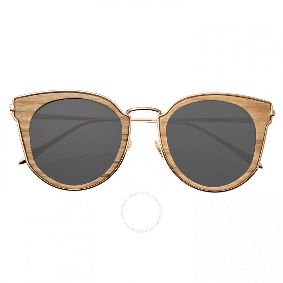 aa30da3f2 Karekare Rose Gold Metal Wayfarer Sunglasses - Khaki Wood - Earth ...