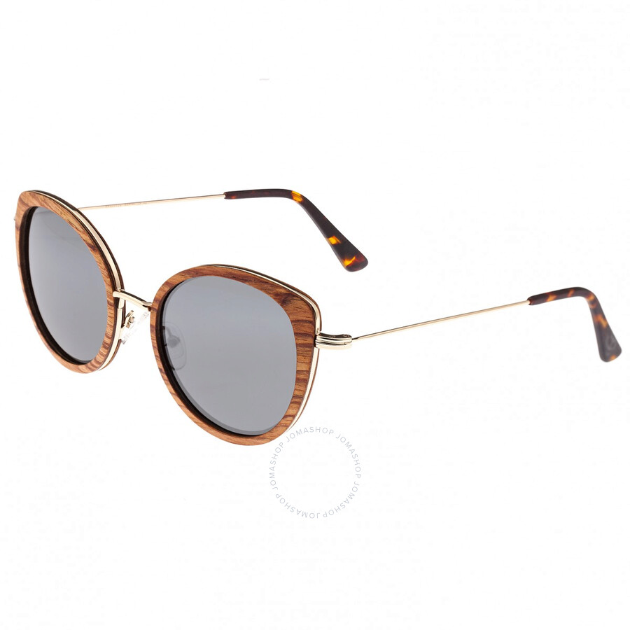 b17c87da1 Oreti Gold Metal Wayfarer Sunglasses - Brown Wood - Earth ...