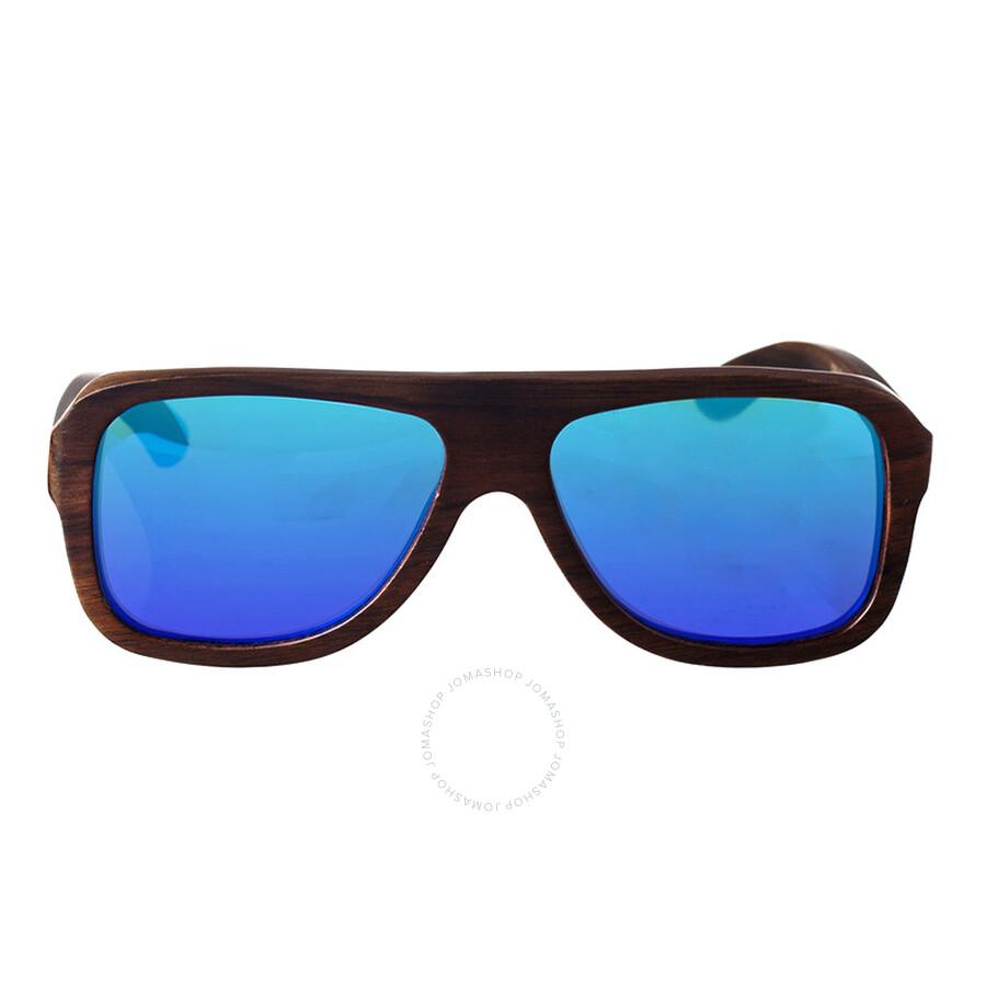 blue blocker sunglasses  ebony wood blue