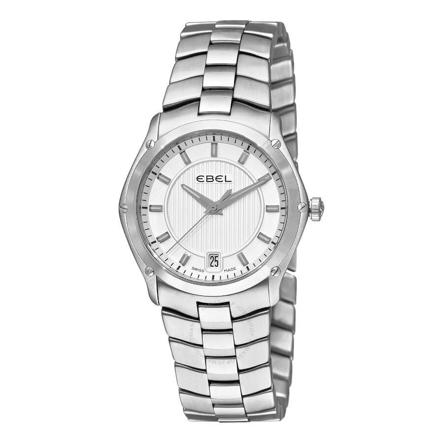 Ebel Classic Sport Grande Silver Dial Stainless Steel Ladies Watch 1216017