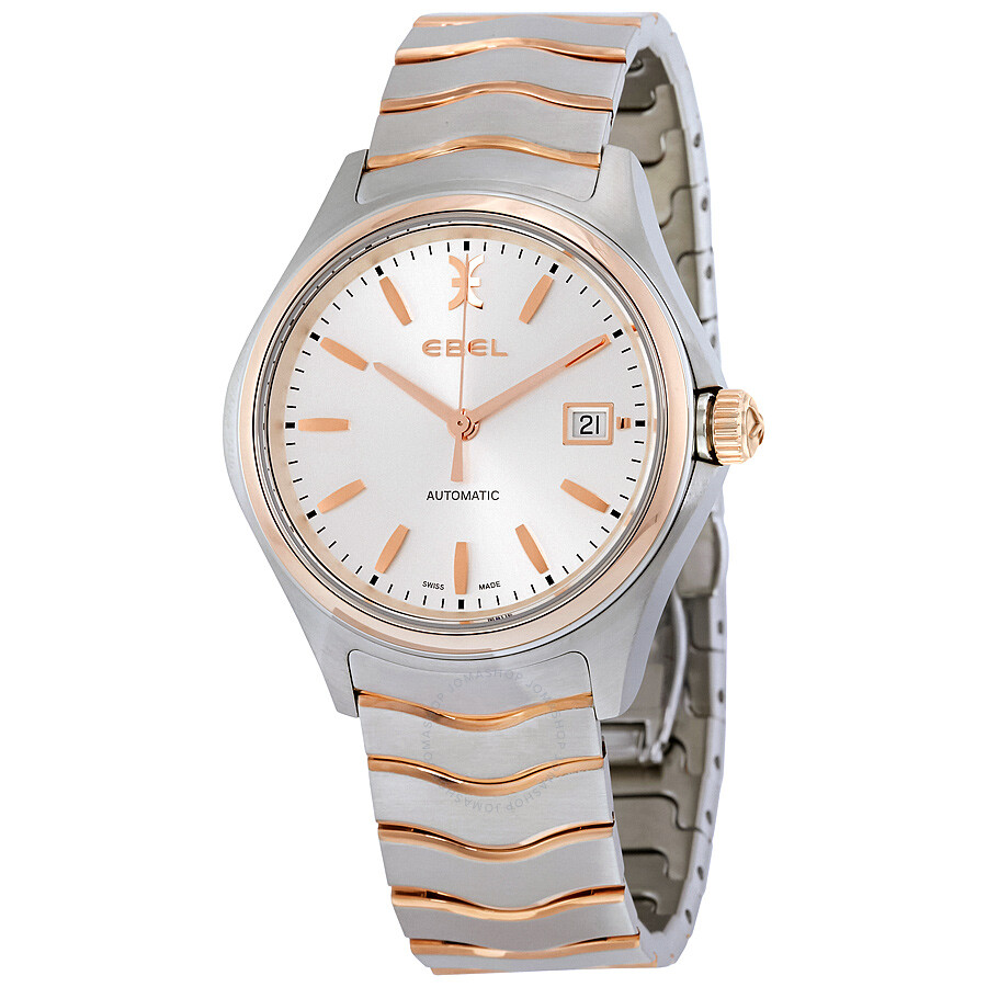 Ebel Wave Silver Dial Automatic Men's Two Tone Watch ...