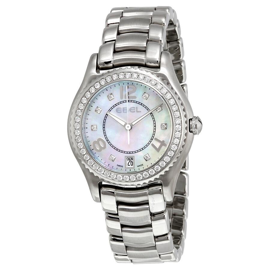 Ebel X-1 Silver Diamond Dial Stainless Steel Ladies Watch ...