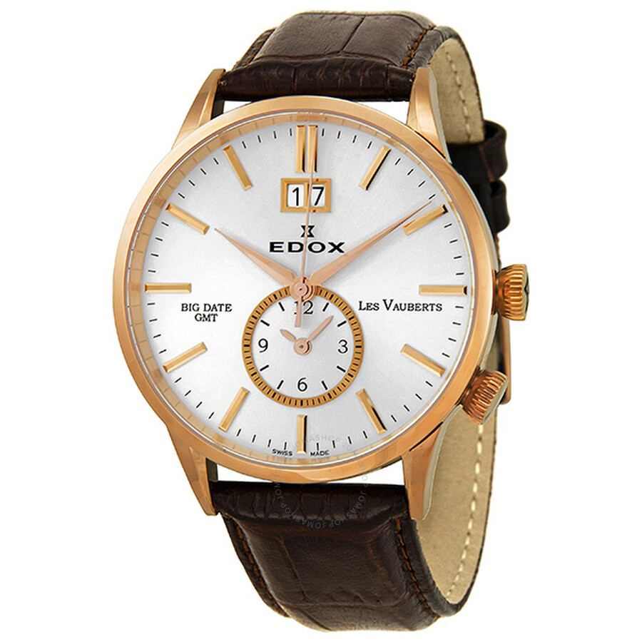 Edox Les Vauberts Big Date GMT Men s Quartz Watch 62003 3 ...